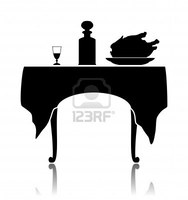 7084159-silhouette-of-a-restaurant-little-table-with-the-laid-cloth-a-wine-glass-a-shtof-and-a-dish-with-a-r-0x